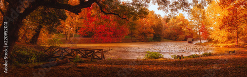 Canvas Prints Autumn The bridge