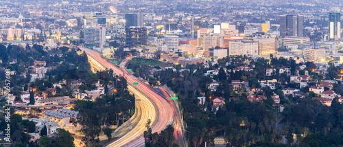 Spoed Foto op Canvas Verenigde Staten Los Angeles Cityscape Sunset