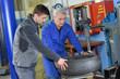 portrait of teenager in mechanics apprenticeship