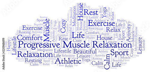 Canvastavla Progressive Muscle Relaxation word cloud.