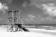 Empty Lifeguard Stand On The O...