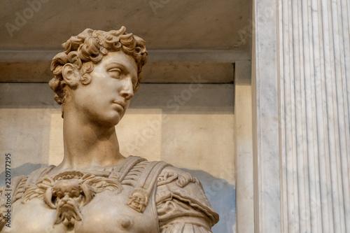 Stampa su Tela Michelangelo medici tomb sculpture detail