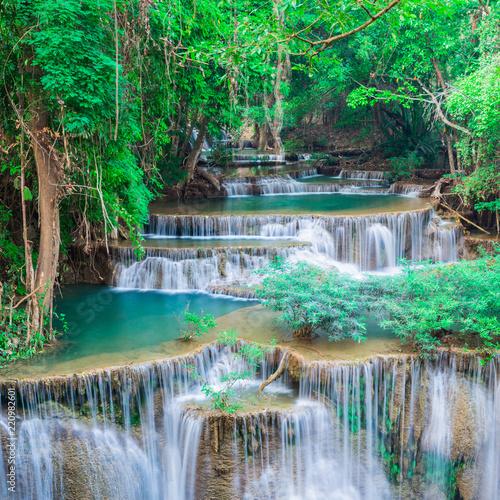 Recess Fitting Waterfalls Landscape waterfall at Kanchanaburi, Thailand