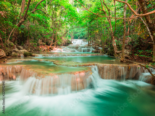 Recess Fitting Waterfalls Landscape waterfall in the forest, Thailand