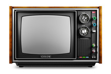 An Old TV With A Monochrome Ki...