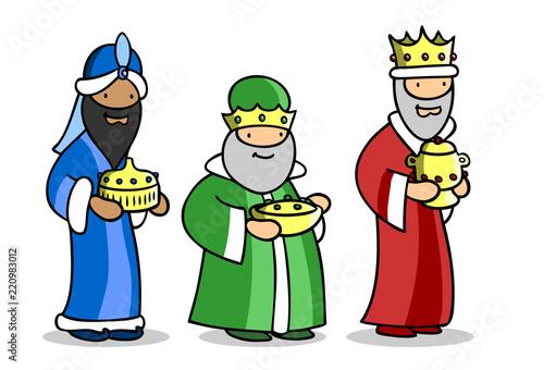 Photographie Die heiligen drei Könige zu Weihnachten
