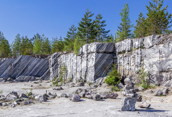 View of the Italian quarry in Ruskeala Park