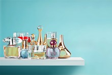 Aromatic Perfume Bottles On Wo...
