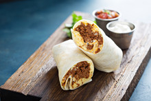 Breakfast Burrito With Chorizo...