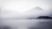 Mist Covered Mt. Fuji In The M...