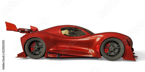 Photo  sport car whith no brand in a white background