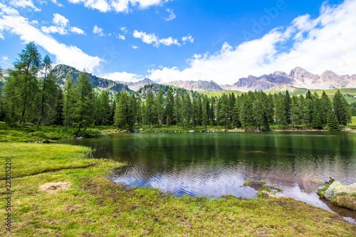 In de dag Meer / Vijver San Pellegrino lake in the Italian Dolomites