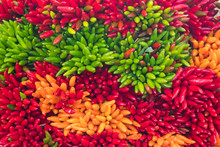 Abstract View Of Chilies On Sa...