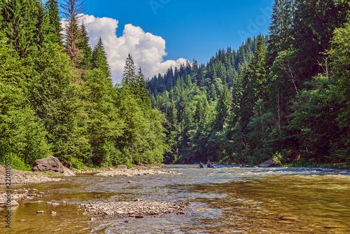 Obraz river in the Carpathian Mountains - fototapety do salonu