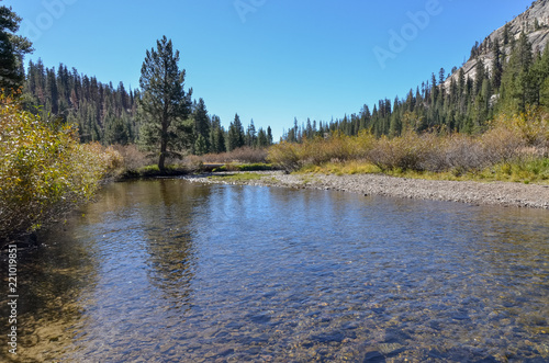 Middle Fork of San Joaquin river  Ansel Adams Wilderness, Madera county, Califor Wallpaper Mural
