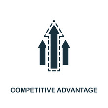 Competitive Advantage Icon. Monochrome Style Design From Management Icon Collection. UI. Pixel Perfect Simple Pictogram Competitive Advantage Icon. Web Design, Apps, Software, Print Usage.