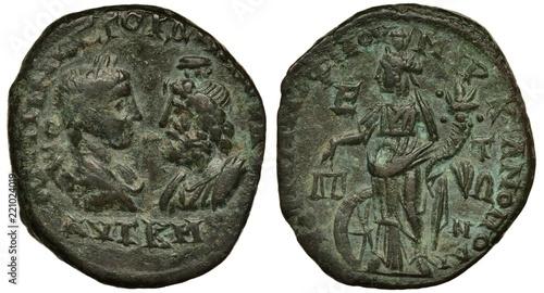 Fotografía Ancient Roman coin, Province of Lower Moesia, Marcianopolis (Devnya), pentassari