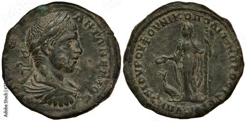 Ancient Roman coin, Province of Lower Moesia, Nicopolis, 218