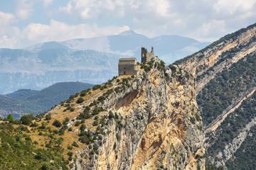Fototapeta na wymiar Samitier castle in Sobrarbe region, Spain