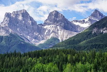 Three Sisters Mountain In Canm...
