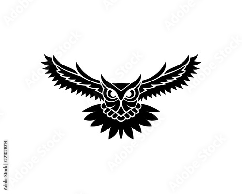 Canvas Prints Owls cartoon Owl logo - vector illustration. Emblem design on white background