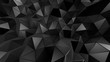 Black crystal background with triangles. 3d illustration, 3d rendering.
