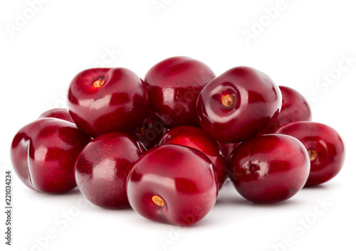 Canvas Sweet cherry berries isolated on white background cutout