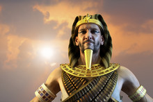 3D Illustration Of A Ancient Egyptian Pharaoh Render 3D