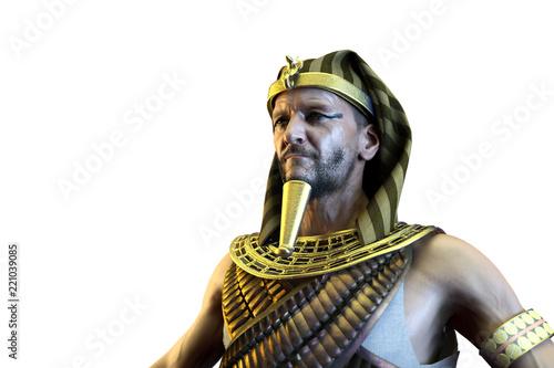 3D Illustration of a ancient Egyptian Pharaoh render 3D Fototapeta
