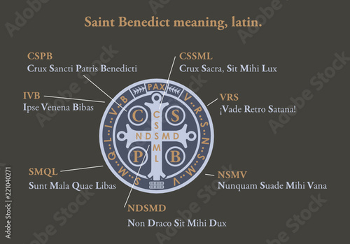 Saint benedict medal meaning in latin - Buy this stock