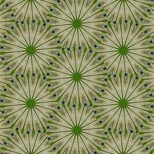 Seamless Lime Green Spirals Pattern