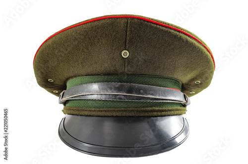 e6d5a97bd Russian military hat and soviet army uniform concept with front view ...