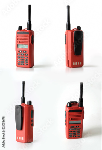 Fényképezés Set of portable two way radios