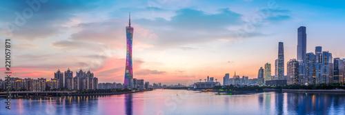 Fototapeta Skyline of urban architectural landscape in Guangzhou.. obraz