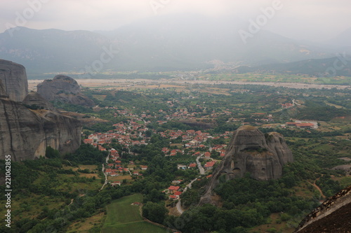 Meteora mountain landscape, Kalabaka, Greece