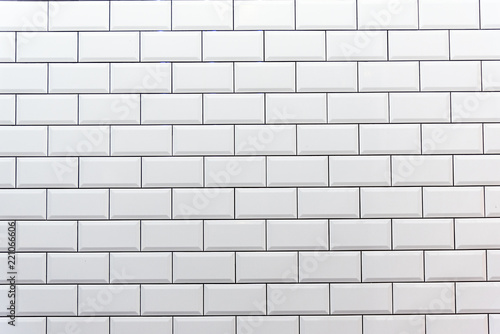 Fotografie, Obraz  Background from a clean white tiled wall