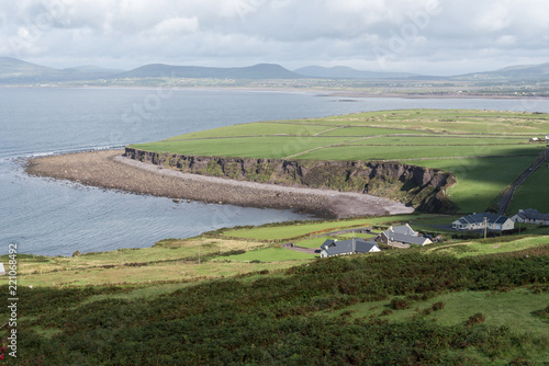 Spoed Foto op Canvas Wit View of the coast from the Ring of Kerry road, County Kerry, in the south west of Ireland.