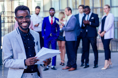 Fotografija  Successful multinational professionals team portrait, multi-ethnic group of conf