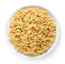 Plate Of Instant Noodles Isola...
