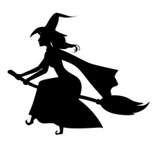 Halloween Witch Silhouette On ...
