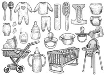 Baby, Infant Accessories Illus...