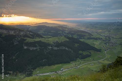 Poster South America Country Abendstimmung auf dem Alpsigel im Alpstein