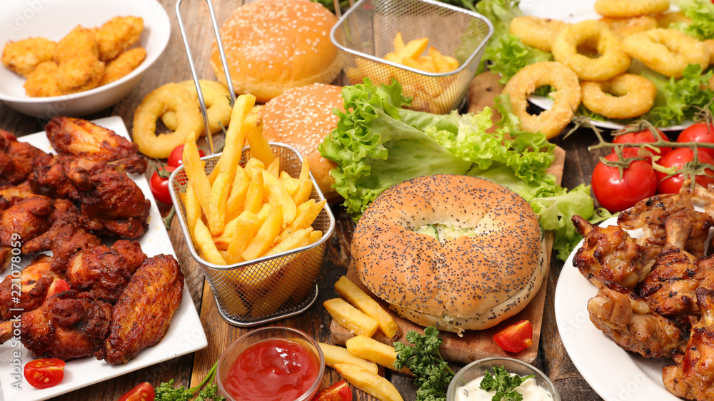 Fototapety, obrazy: assorted american food, fast food
