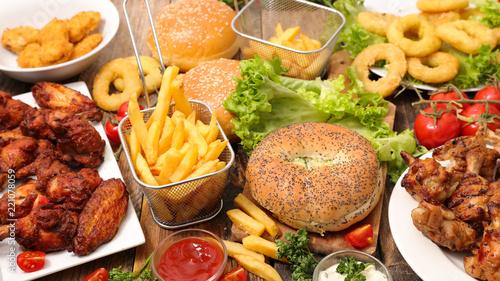 Fotografía assorted american food, fast food