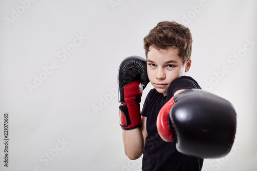 Young muay thai fighter Wallpaper Mural