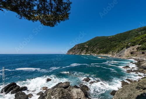 Mediterranean Sea - Coast in Framura Liguria Italy