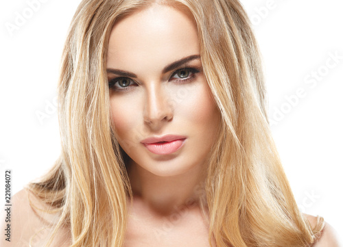 Fototapety, obrazy: Beautiful blonde hair woman with beauty eyes and lips