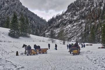 wycieczki piesze i góralskimi saniami w Tatrach