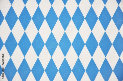 Oktoberffest, blau weiß als Hintergrund mit Textfreiraum