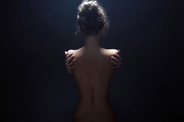 nude body girl. Naked woman back